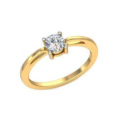 18KT Gold Lab Created Diamond Engagement Ring with Certification