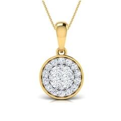 Round Diamond Cluster Pendant