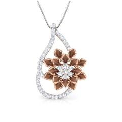 Round Diamond Flower Pendant