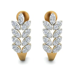 18KT Gold and 0.54 Carat Diamond Earrings