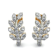 18KT Gold and 0.69 Carat Diamond Earrings