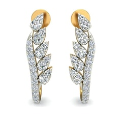 18KT Gold and 0.62 Carat Diamond Earrings
