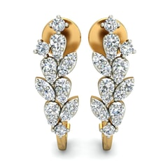 18KT Gold and 0.58 Carat Diamond Earrings