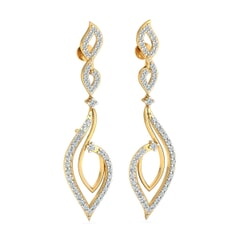 18KT Gold and 0.83 Carat Diamond Earrings