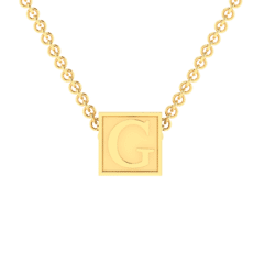 """G Initial """"Be Inspired"""" Pendant"""