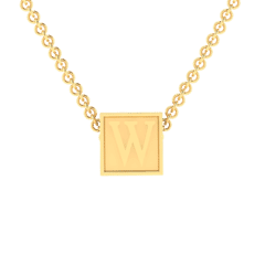 """W Initial """"Be Inspired"""" Pendant"""