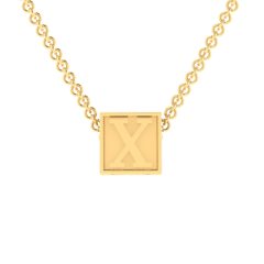 """X Initial """"Be Inspired"""" Pendant"""