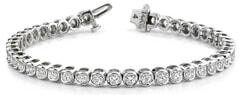 Channel Set Round Diamond Tennis Bracelet Ranging from 1.00 - 3.80 Carat