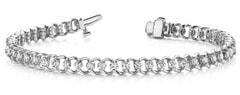 Solitaire Link Diamond Tennis Bracelet Ranging from 0.90 - 4.00 Carat