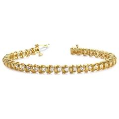 Wide Link Diamond Tennis Bracelet Ranging from 1.00 - 4.00 Carat