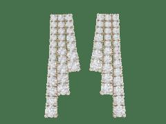 Dangling Earrings in 18K Gold and 4.17 carat diamonds