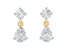 Stud Earring in 18K Gold and 2.00 carat diamonds