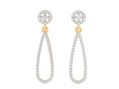Dangling Earrings in 18K Gold and 0.71 carat diamonds