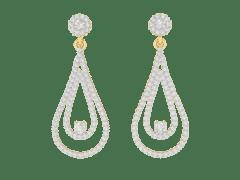 Dangling Earrings in 18K Gold and 1.51 carat diamonds