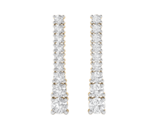 Stud Earring in 18K Gold and 1.10 carat diamonds