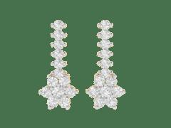 Designer Earring in 18K Gold and 1.12 carat diamonds