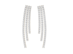 Designer Earring in 18K Gold and 2.04 carat diamonds