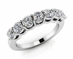 18KT Gold Seven Stone Diamond Anniversary Ring