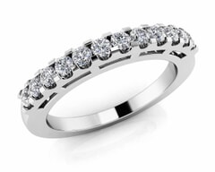 18KT Gold Twelve Stone Diamond Anniversary Ring