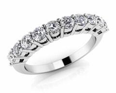18KT Gold Eleven Stone Diamond Anniversary Ring