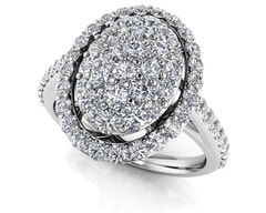 18K Gold and 1.14 Carat F Color and VS Clarity Diamond Fashion Ring