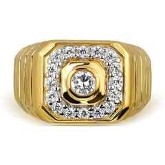18K Gold and 0.45 Carat E Color and VS2 Clarity Diamond Designer Band