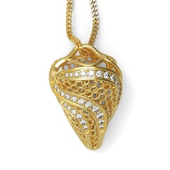 Contemporary Pendant in 18K Gold and Diamonds