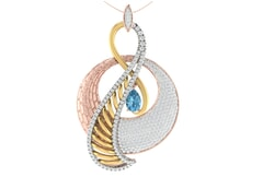 18KT Gold and 0.79 Carat Diamond Pendant