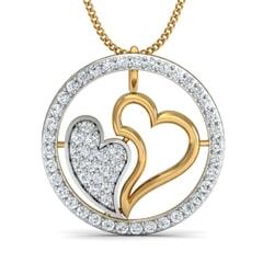 Round Diamond Heart Pendant