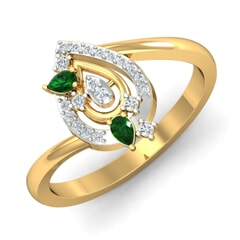 Round Diamond and Gemstone Ring