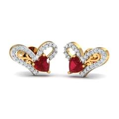 Round Diamond and Gemstone Earrings