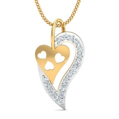 18k Gold and 0.20 carat Round Diamond Fancy Pendant