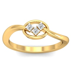 18KT Gold and 0.06 Carat F Color VS Clarity Diamond Ring