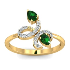 18KT Gold and 0.024 Carat F Color VS Clarity Diamond Ring