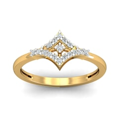18KT Gold and 0.14 Carat F Color VS Clarity Diamond Ring