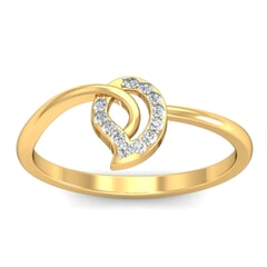 18KT Gold and 0.10 Carat F Color VS Clarity Diamond Ring