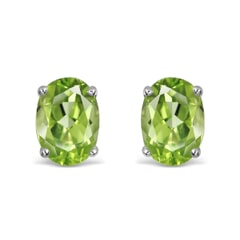 14K Gold Peridot Earrings