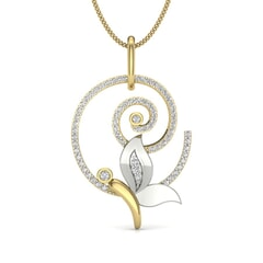 14KT Gold and 0.28 Carat Round Diamond Butterfly Pendant
