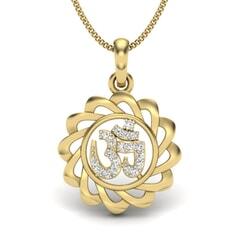 Gold and 0.10 Carat Diamond Pendant