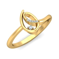 18KT Gold and 0.03 Carat F Color VS Clarity Diamond Ring