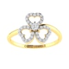 14K Gold and 0.40 carat Round Diamond Heart Ring