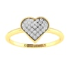 14K Gold and 0.30 carat Round Diamond Heart Ring