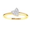 14K Gold and 0.10 carat Round Diamond Heart Ring