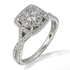 18K Gold and 0.75 Carat E Color VS Clarity Diamond Ring