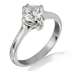 18KT Gold and 0.50 carat Solitaire Engagement Diamond Ring with Certificate