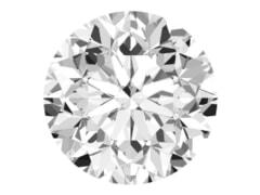 GIA Certified 0.55 Carat F Color VVS2 Clarity  Round Diamond