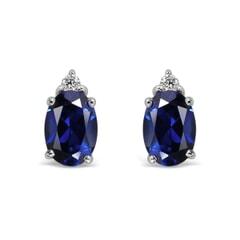 14K Gold Sapphire Earrings