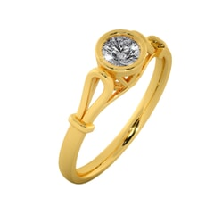 18KT Gold Ring with 0.30 Carat D Color VVS1 Center Diamond with Certificate
