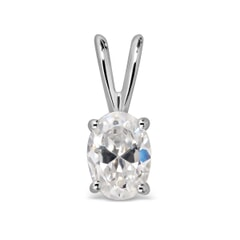 14K Gold White Sapphire Pendant