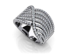18K Gold and 1.27 Carat F Color and VS Clarity Diamond Fashion Ring